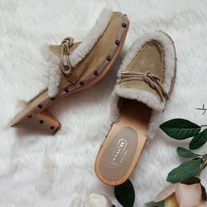 Coach Leather / Suede / Shearling Ruthie Clogs